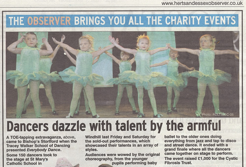 Dance School Charity Event in aid of the Cystic Fibrosis Trust