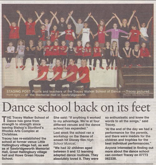 Dance School back on it's feet.